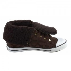 Coach Bonney Shearling High Top Tennis Shoes